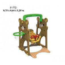 Детские качели FAMILY Медвежата F-772