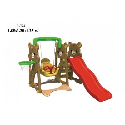 Детский игровой комплекс FAMILY Медвежата F-774