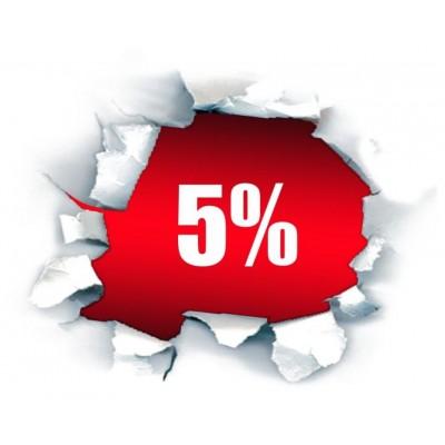 Скидка на все товары - 5%!